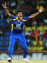 Thisara Perera claimed his third five-for in ODIs, Sri Lanka v Pakistan, 2nd ODI, Pallekele, June 9, 2012
