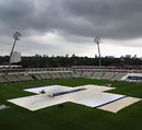 It was another damp scene on the final morning at Edgbaston, England v West Indies, 3rd Test, Edgbaston, 5th day, June 11, 2012