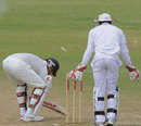 Rohit Sharma was bowled by a ball that kept low, West Indies A v India A, 2nd unofficial Test, St Vincent, 4th day, June 12, 2012