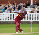 Darren Bravo goes one-handed during his hundred, Middlesex v West Indians, Tour match, Lord's, June 13, 2012