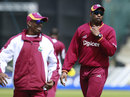 Dwayne Bravo and Kieron Pollard during West Indies practice