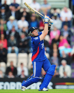 Ian Bell's first boundary was a straight six, England v West Indies, 1st ODI, West End, June 16, 2012