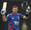 Ian Bell acknowledges applause for his hundred