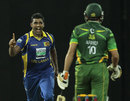 Thisara Perera dismissed Shahid Afridi for a golden duck, Sri Lanka v Pakistan, 4th ODI, Colombo, June 16, 2012