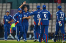 Tim Bresnan took four wickets as England celebrated an emphatic win