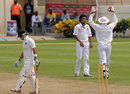 Devendra Bishoo had Robin Bist lbw, West Indies A v India A, 3rd unofficial Test, St Lucia, 1st day, June 16, 2012