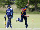 Chris Borrett delivers the ball, France v MCC, Château de Thoiry, France, June 17, 2012