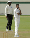 Shami Ahmed manages a smile on another hard day for India A, West Indies A v India A, 3rd unofficial Test, St Lucia, 2nd day, June 17, 2012