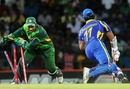 Kumar Sangakkara was run out by Sarfraz Ahmed, Sri Lanka v Pakistan, 5th ODI, Premadasa Stadium, Colombo, June 18, 2012
