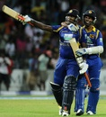 Angelo Mathews secured victory with two balls to spare Sri Lanka v Pakistan, 5th ODI, Premadasa Stadium, Colombo, June 18, 2012