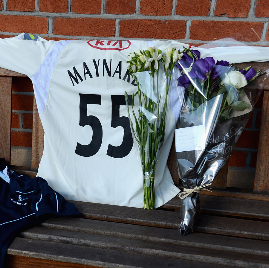 Flowers start to collect in memory of Tom Maynard