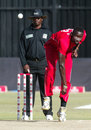 Chris Mpofu delivers the ball, Zimbabwe v South Africa, T20 tri-series, Harare, June 20, 2012