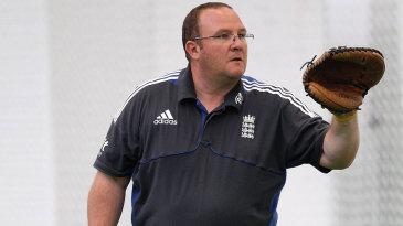 England women head coach Mark Lane takes training