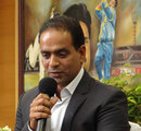 Sunil Joshi at his retirement ceremony, Bangalore, June 21, 2012