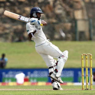 Kumar Sangakkara pulls the ball, Sri Lanka v Pakistan, 1st Test, Galle, 1st day, June 22, 2012
