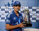 Alastair Cook with the NatWest Series Trophy, England v West Indies, 3rd ODI, Headingley, June 22, 2012