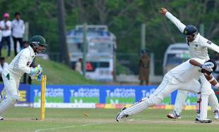 Adnan Akmal stumped Thilan Samaraweera, Sri Lanka v Pakistan, 1st Test, Galle, 2nd day, June 23, 2012