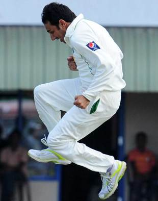 Saeed Ajmal picked up all the five Sri Lanka wickets that fell until lunch on the second day, Sri Lanka v Pakistan, 1st Test, Galle, 2nd day, June 23, 2012