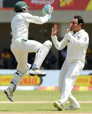 Saeed Ajmal led Pakistan's fightback, Sri Lanka v Pakistan, 1st Test, Galle, 2nd day, June 23, 2012