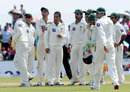 Pakistan get together after Suraj Randiv's dismissal, Sri Lanka v Pakistan, 1st Test, Galle, 2nd day, June 23, 2012
