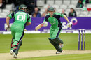 Paul Stirling and Niall O'Brien put on 35 for the third wicket, Ireland v Australia, ODI, Stormont, June 23, 2012