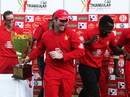 Brendan Taylor with the trophy, Zimbabwe v South Africa, T20 tri-series final, Harare, June 24, 2012