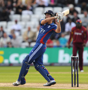 Alex Hales hooks on his way to the highest score by an England player in T20 internationals, England v West Indies, T20I, Trent Bridge, June, 24, 2012