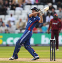 Alex Hales hooks on his way to the highest score by an England player in T20 internationals