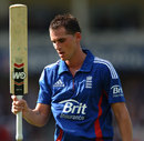 Alex Hales leaves the field after making 99, England v West Indies, T20I, Trent Bridge, June, 24, 2012