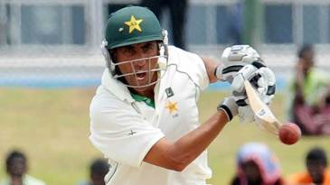 Younis Khan punches one through the off side