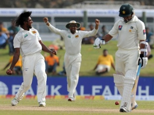 Nuwan Pradeep dismissed Mohammad Ayub lbw, Sri Lanka v Pakistan, 1st Test, Galle, 4th day, June 25, 2012