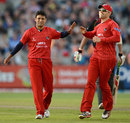 Yasir Arafat became the leading wicket-taker in English Twenty20, Lancashire v Durham, FLt20, North Group, Old Trafford, June 25, 2012