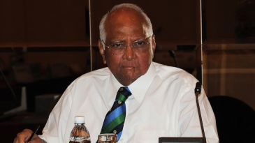 The ICC president Sharad Pawar chairs the Executive Board meeting