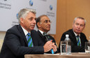 ICC chief executive David Richardson, Haroon Lorgat and ICC president Alan Isaac, Kuala Lumpur, June 28, 2012