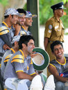 Pakistan share a joke during practice, Colombo, June 28, 2012