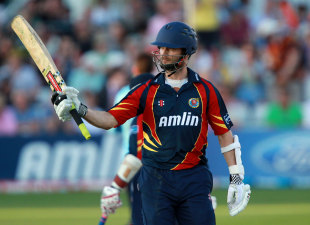 James Foster acknowledges his half-century, Essex v Sussex, FLt20 South Group, June 28, 2012
