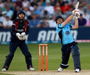 Luke Wright hits out during his innings of 46, Essex v Sussex, FLt20 South Group, June 28, 2012