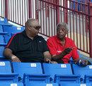 Former West Indies spinner Lance Gibbs (right), Lauderhill, Florida, June 28, 2012