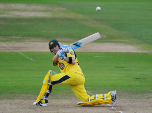 Michael Clarke hit a half-century during Australia's run chase, England v Australia, 1st ODI, Lord's, June 29, 2012