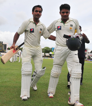 Mohammad Hafeez and Azhar Ali put on the highest second-wicket stand against Sri Lanka, Sri Lanka v Pakistan, 2nd Test, SSC, Colombo, 1st day, June 30, 2012
