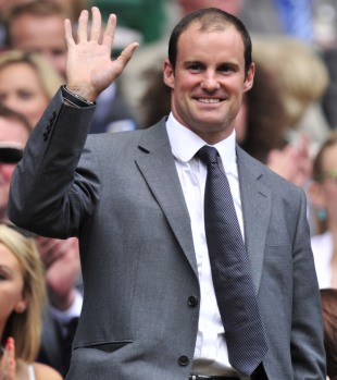 Andrew Strauss in the Royal Box at Wimbledon, London, June 30, 2012