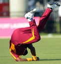 Dwayne Bravo catches Jacob Oram, West Indies v New Zealand, 1st Twenty20, Florida, June 30, 2012