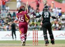 Chris Gayle is bowled