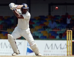 Kumar Sangakkara drives on the off side, Sri Lanka v Pakistan, 2nd Test, SSC, Colombo, 5th day, July 4, 2012