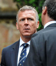 Alec Stewart at Tom Maynard's funeral, Cardiff, July 4, 2012