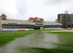 The Trent Bridge outfield under water, Trent Bridge, Nottingham, July, 6, 2012
