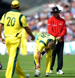 Brett Lee was sent home from the ODI series in England with a calf injury