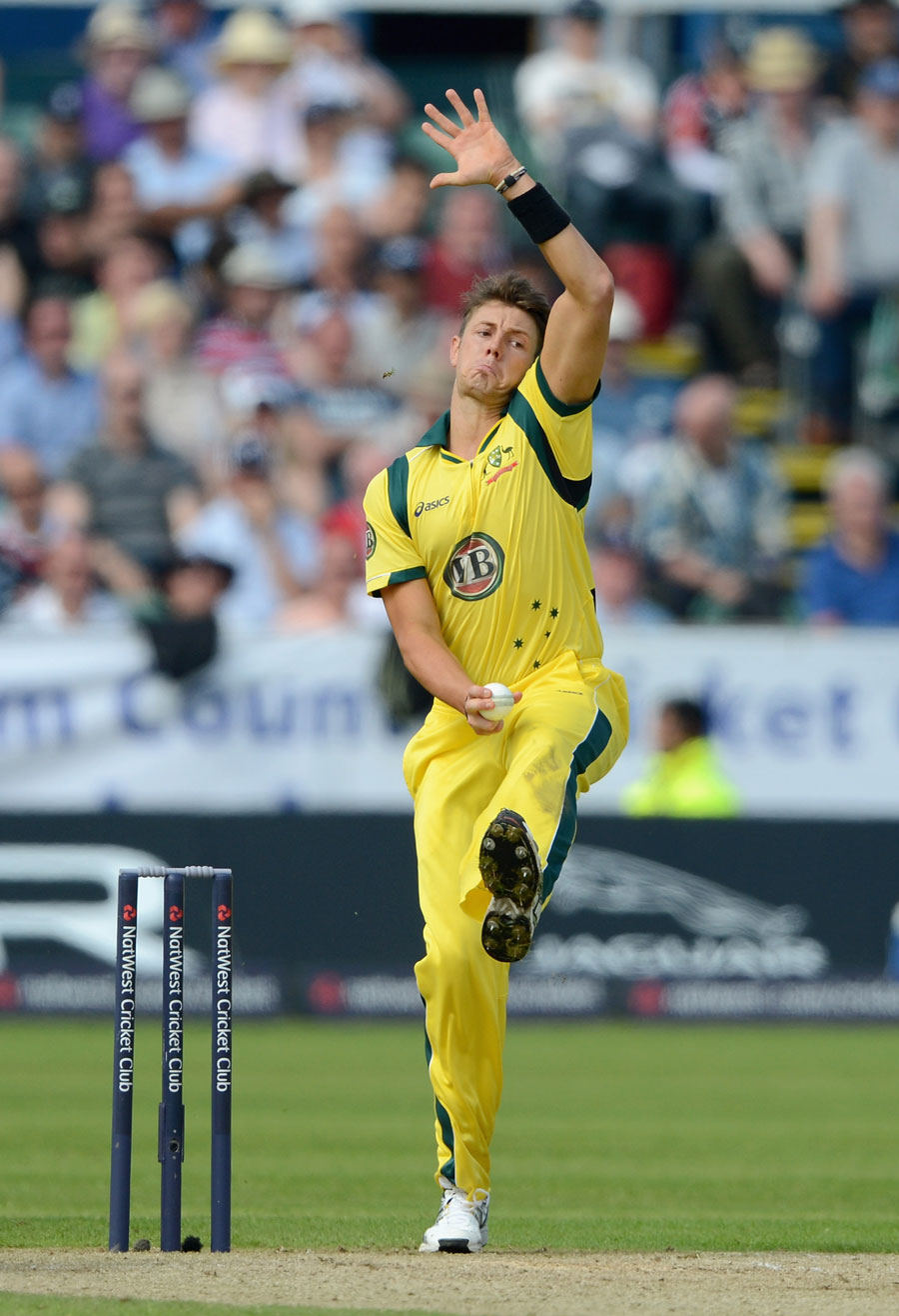 James Pattinson took 0 for 46 in his first match in England