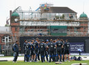 England train against backdrop of building work, Old Trafford, July 9, 2012