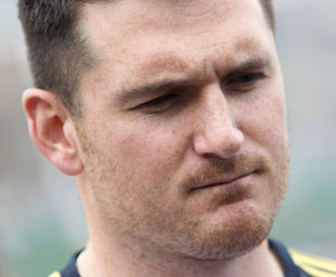 Graeme Smith read out a statement from Mark Boucher, Somerset v South Africans, Tour match, Taunton, 2nd day, July 10, 2012